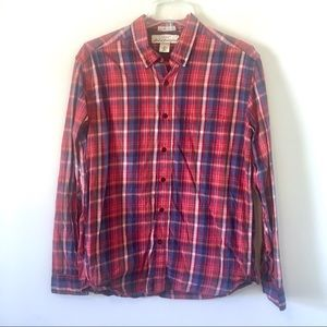 H&M L.O.G.G. Cotton Twill Plaid Button Down Shirt